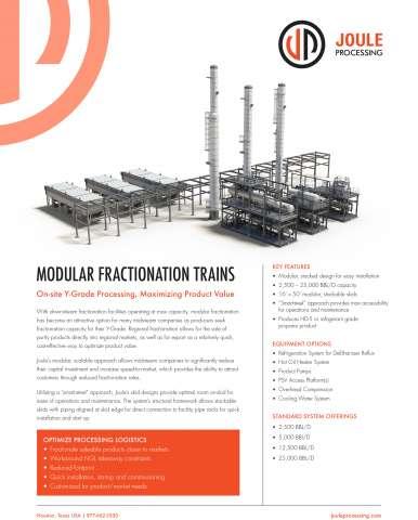 Modular Fractionation Trains | Joule Processing